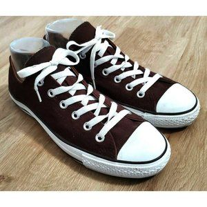 Converse Womens Plaid Double Tongue Brown Sneakers